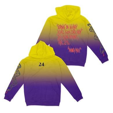 24 Yellow/Purple Dip Dye Hoodie + Digital Download