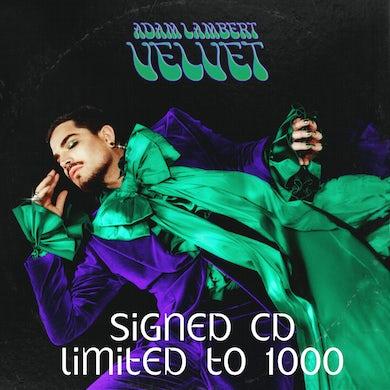 Adam Lambert SIGNED VELVET - CD +Download