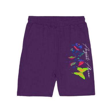 August Alsina Transitions Purple Shorts + Download