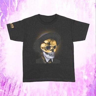 Busta Rhymes Gold Skull - Black T-Shirt