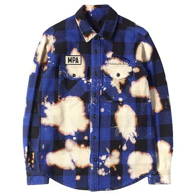 Peewee Longway Longway Sinatra Blue Splattered Flannel