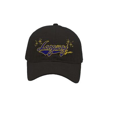 Peewee Longway Longway Script Black Dad Hat
