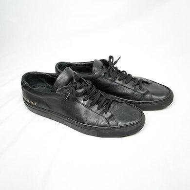AllBlack G-Eazy: Common Projects 1528 Original Leather Achilles Low - Black