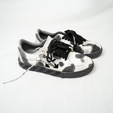 ALLBLACK: Off-White Tie-Dye Low Vulcanized Black Grey