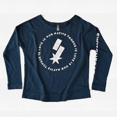 Love is our Native Tongue Our Native Tongue is Love Ladies Long Sleeve Scoopneck