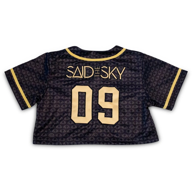 Said the Sky STS Women Crop Jersey / Black