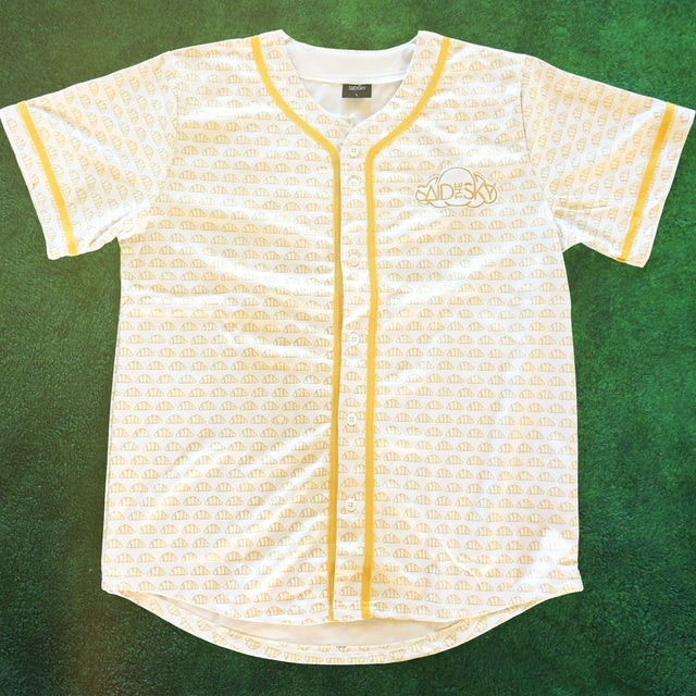 Said the Sky Croissant Baseball Jersey / White