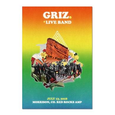 GRiZ 2018 Red Rocks Live Band 18 x 24 Poster