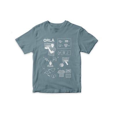 ORLA flatpack tee, WHITE X STONE BLUE