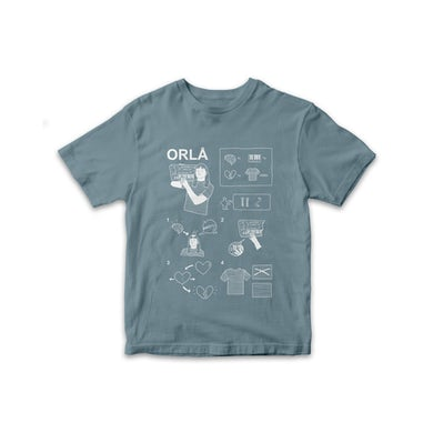 Orla Gartland ORLA flatpack tee, WHITE X STONE BLUE