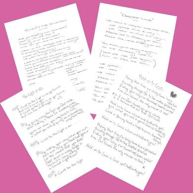 Stone Foundation Lyric Sheets (Signed)