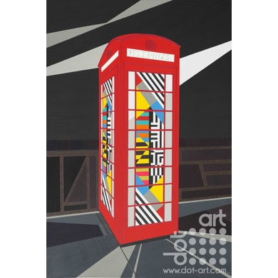 Orchestral Manoeuvres in the Dark Phone Box (Design 2) - Artwork Print