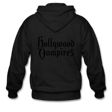 Hollywood Vampires Black on Black (zip hoodie)