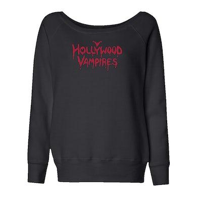 Hollywood Vampires Logo Bling Slouchy Fleece