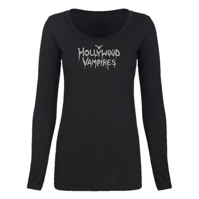 Hollywood Vampires Logo Bling Long Sleeve Scoop