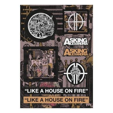 """Asking Alexandria - """"Like A House On Fire"""" Sticker Sheet"""