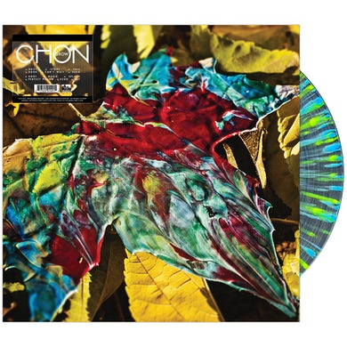CHON - 'Grow' Red In Clear w/Blue and Neon Yellow Splatter Vinyl