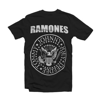Ramones T Shirt - Seal Black