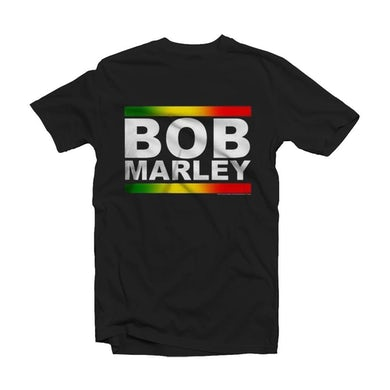 Bob Marley T Shirt - Rasta Band Block