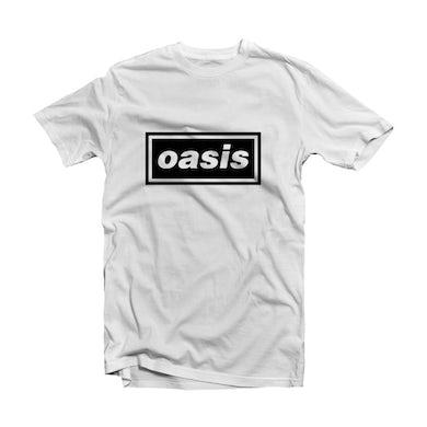Oasis White T Shirt - Decca Logo