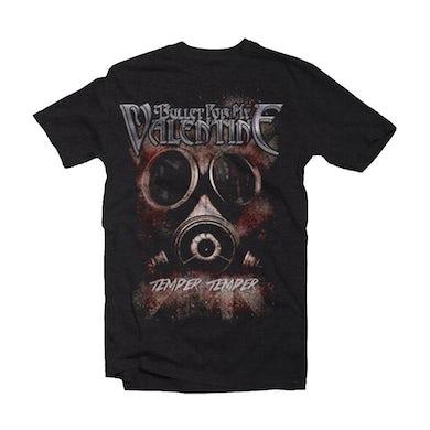 Bullet For My Valentine T Shirt - Temper Temper Gas Mask