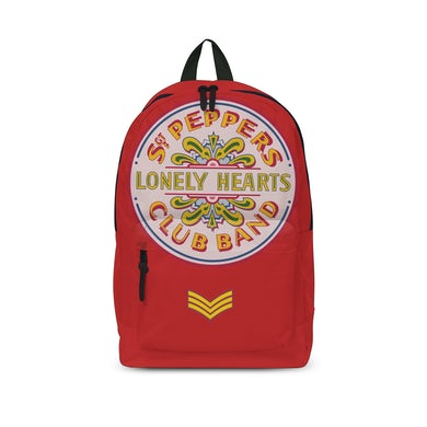 The Beatles Backpack - Lonely Hearts Red