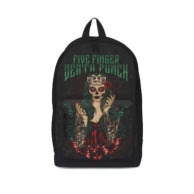 Rocksax Five Finger Death Punch Backpack - Dotd Green