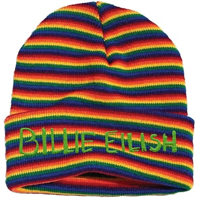 Billie Eilish Beanie Hat - Stripes
