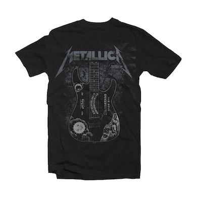 Metallica T Shirt - Hammett Ouija Guitar