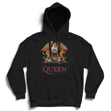 Queen Hoodie - Classic Crest Black