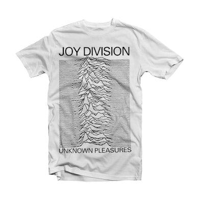 Joy Division T Shirt - Unknown Pleasures White