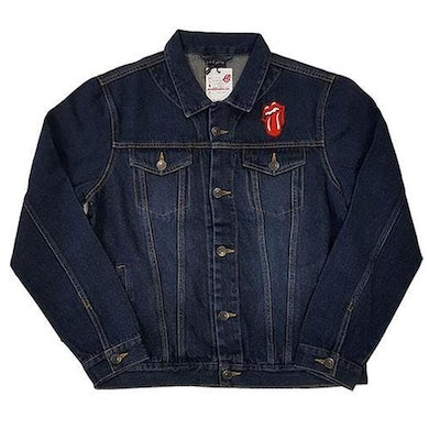 The Rolling Stones Denim Jacket - Classic Tongue (With Back Print)