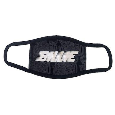 Billie Eilish Face Mask - Racer Logo & Graffiti Black