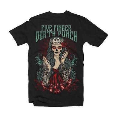 Five Finger Death Punch T Shirt - Lady Muerta