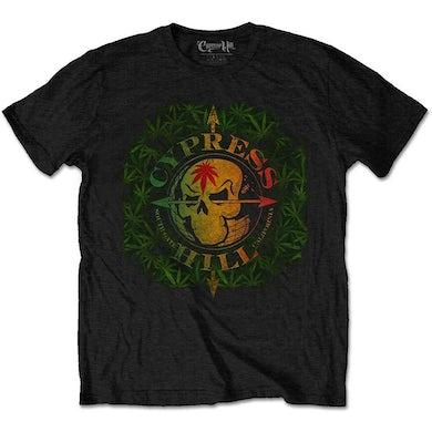 Cypress Hill T Shirt - South Gate Logo & Leaves