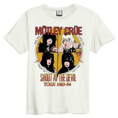 Motley Crue T Shirt - Shout At The Devil Amplified Vintage