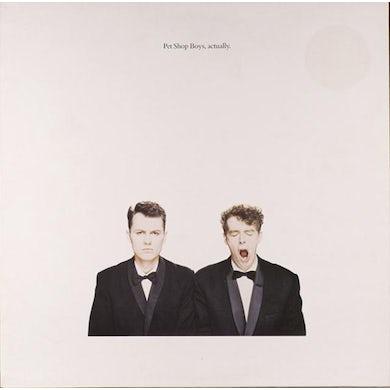Pet Shop Boys LP - Actually (2018 Remastered Version) (Vinyl)
