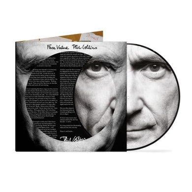 Phil Collins LP - Face Value - 40th Anniversary Picture Disc (Vinyl)