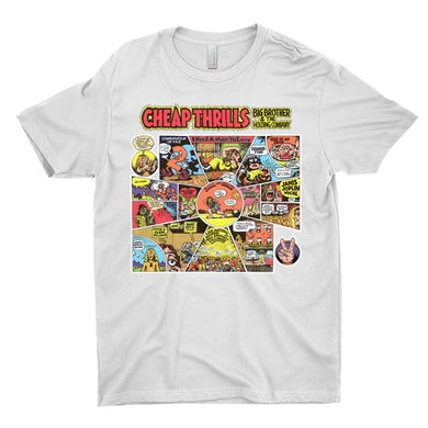 T-Shirt   Cheap Thrills In Black Background Big Brother And The Holding Company Shirt