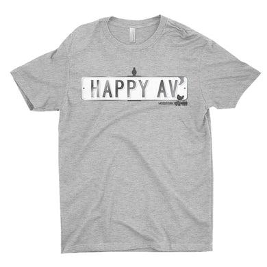 Woodstock T-Shirt | Happy Avenue Street Sign Woodstock Shirt