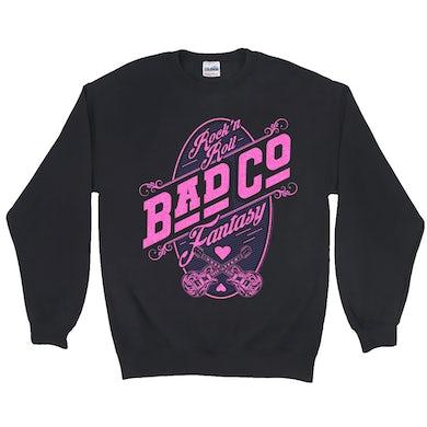 Bad Company Sweatshirt   Rock N' Roll Fantasy Pink Bad Company Sweatshirt