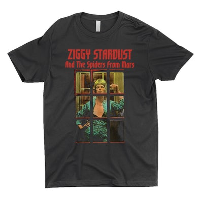 David Bowie T-Shirt | Ziggy Stardust And The Spiders From Mars Photo David Bowie Shirt