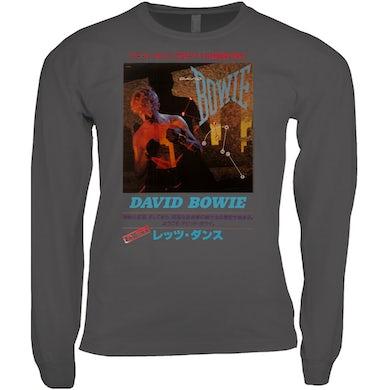 David Bowie Long Sleeve Shirt | Let's Dance Japan Concert Poster David Bowie Shirt