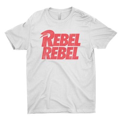 David Bowie T-Shirt | Rebel Rebel Logo Distressed David Bowie Shirt
