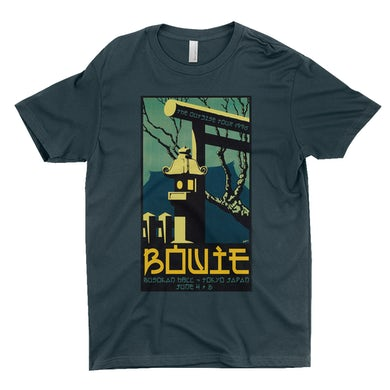 David Bowie T-Shirt | Busokan Hall Tokyo Japan Concert Poster David Bowie Shirt