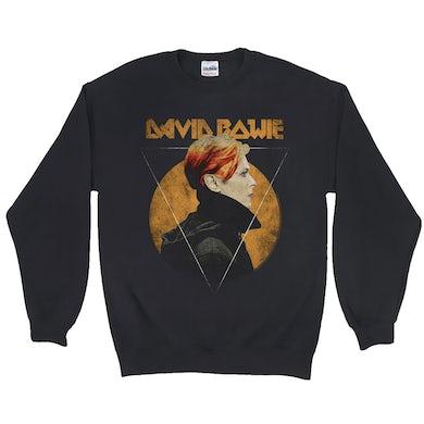David Bowie Sweatshirt | Low Album Art Design Distressed David Bowie Sweatshirt