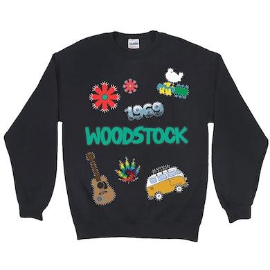 Woodstock Sweatshirt   Woodstock Patches Design Woodstock Sweatshirt