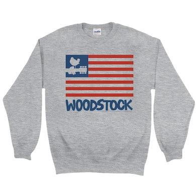 Woodstock Sweatshirt   The Woodstock Flag Woodstock Sweatshirt