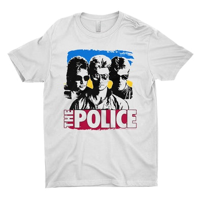 The Police T-Shirt | Synchronicity Police Portrait The Police Shirt