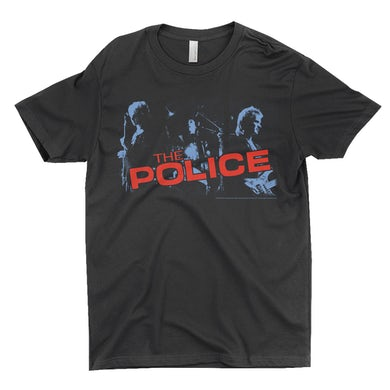 The Police T-Shirt | The Police Band Photo And Logo Red The Police Shirt